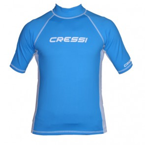 CressiSub - Κοντομάνικο Ανδρικό Γαλάζιο Rash Guard