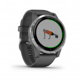 Garmin - Vivoactive 4 Shadow Gray/Silver