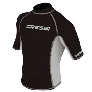 CressiSub - Κοντομάνικο Ανδρικό Μαύρο Rash Guard