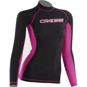 CressiSub - Μακρυμάνικο Γυναικείο Rash Guard Μάυρο/Ροζ