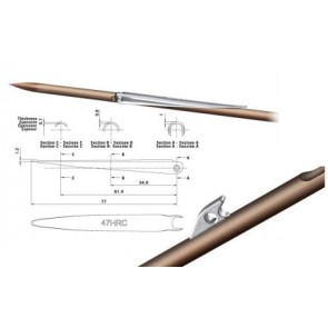 OMER - Single barb 6,5mm diameter shaft with sharkfins AMERICA