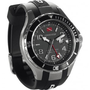 Cressi - Traveller Dual Time Watch Black